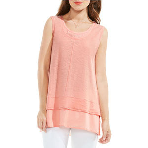 Two by Vince Camuto Top Coral Dusk Size XS